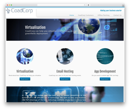 Customizr company WordPress theme - coadcorp.com