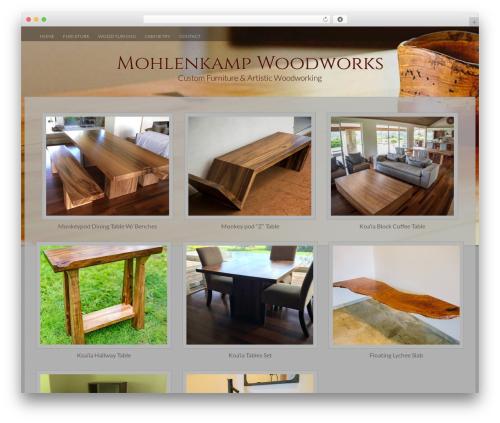 Fifteen theme WordPress - mohlenkampwoodworks.com