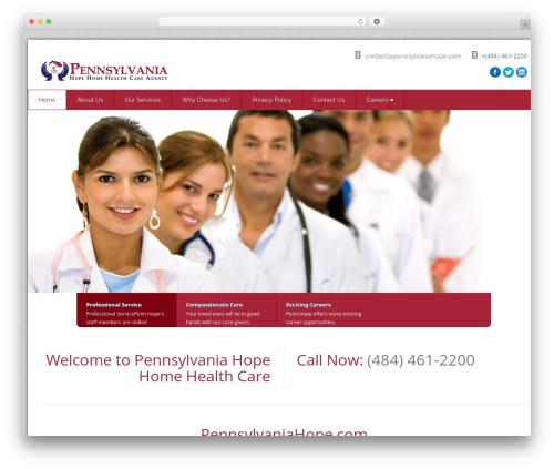 Health-Center-Pro WordPress theme - pennhopecare.com