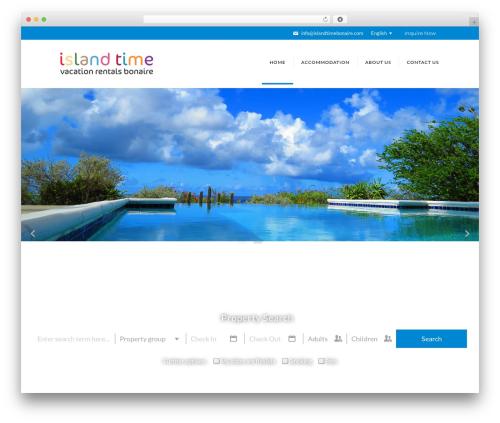 Villas best WordPress theme - islandtimebonaire.com