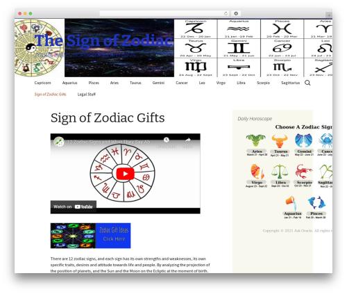 WordPress theme Twenty Thirteen - thesignofzodiac.com