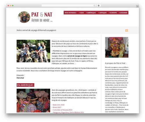 WordPress theme WP-Brilliance - patetnat-envoyage.com