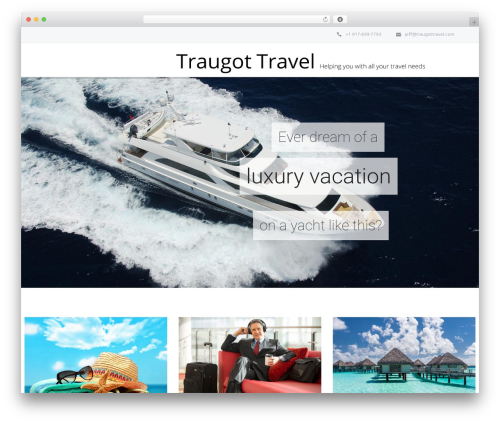 Salamat WordPress travel theme - traugottravel.com