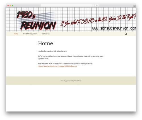 Twenty Thirteen best free WordPress theme - sbhs80sreunion.com