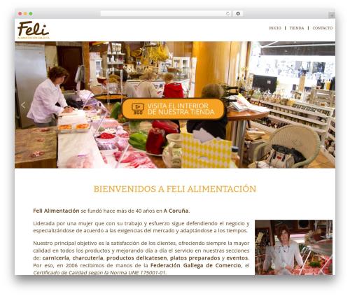 AccessPress Parallax free WordPress theme - felialimentacion.com