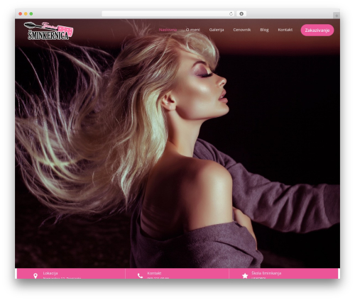 Beauty Studio WP template - tijaninasminkernica.com