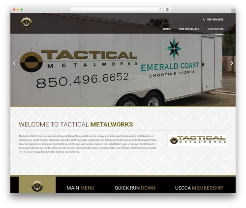 Best WordPress theme Coffee Pro - tacticalmetalworks.com
