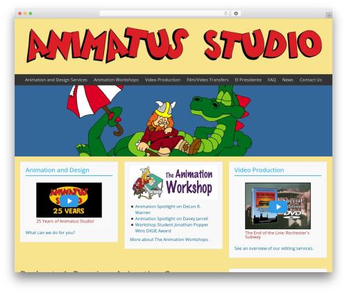 BlueGray template WordPress free - animatusstudio.com