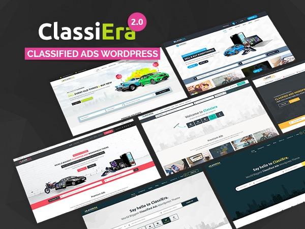 Classiera WordPress website template