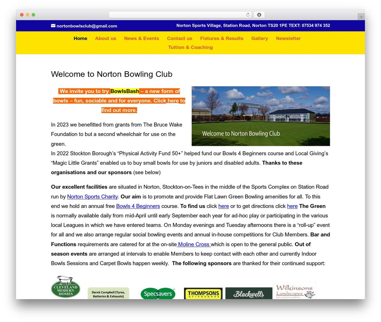 Divi WP template - nortonbowlingclub.com