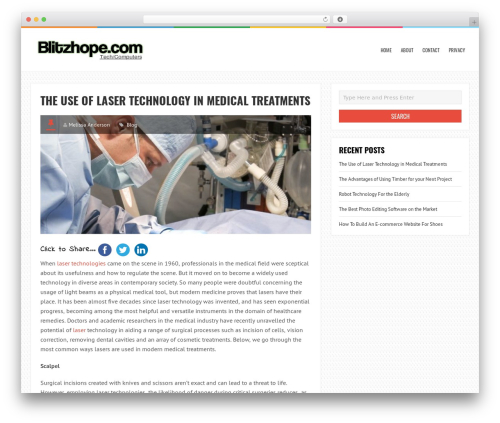 LiveBlog best free WordPress theme - blitzhope.com