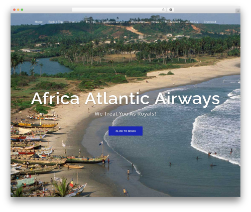 Sydney free WordPress theme - africaatlanticairways.com