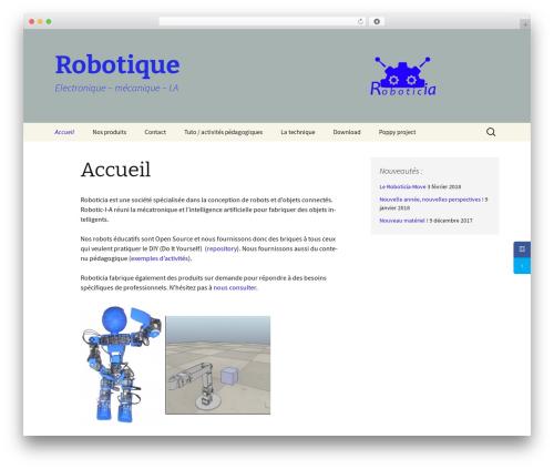 Twenty Thirteen WordPress template free download - roboticia.com