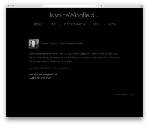 Twenty Thirteen WordPress theme free download - jasminewingfield.com