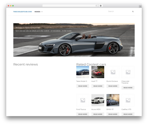 Activello WordPress template free - thecoolestcar.com