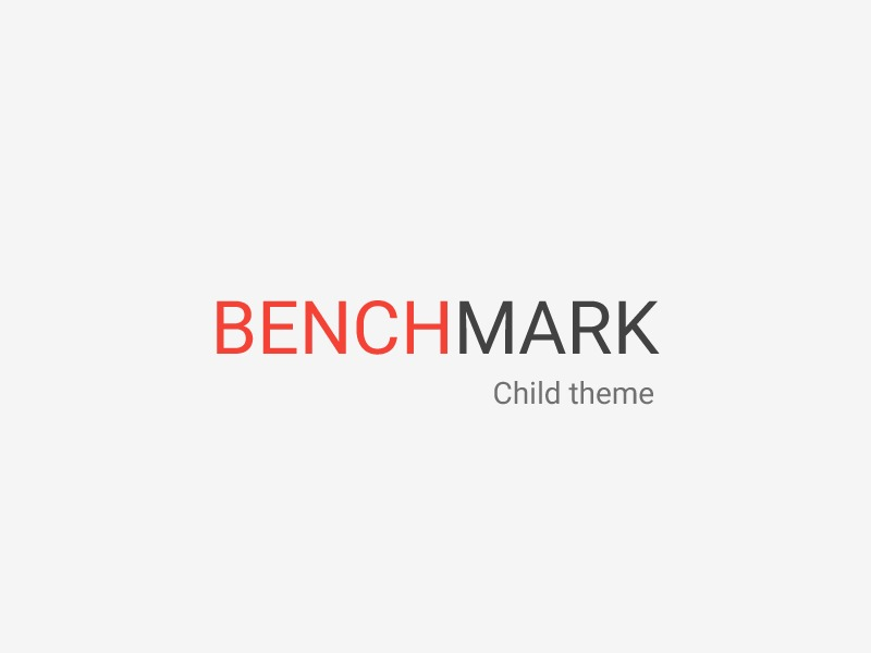 Benchmark Child best WordPress theme