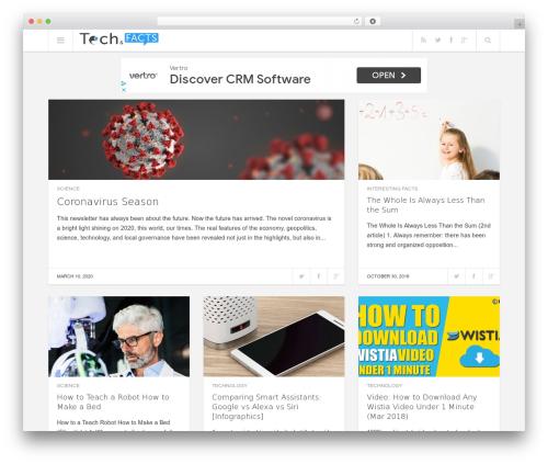 Best WordPress template Enpine - techandfacts.com