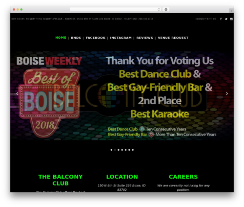 Bridge WP theme - thebalconyclub.com