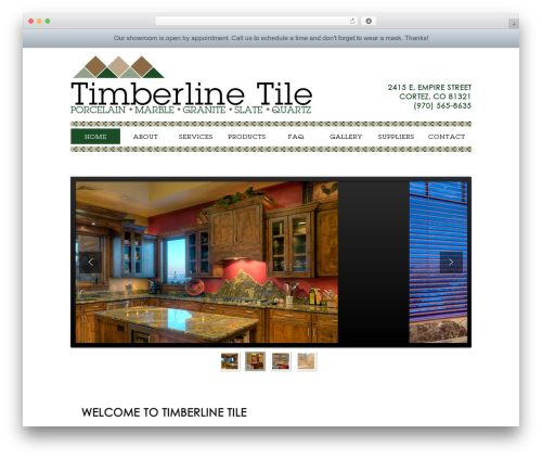 Builder WordPress theme - timberlinetile.com