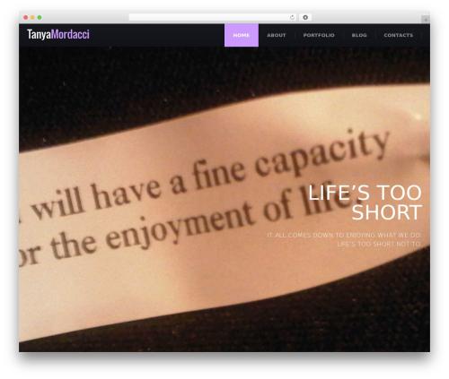 () Craft WordPress website template - tanyamordacci.com
