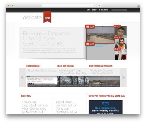 Delicate News best WordPress magazine theme - thevirtuousrepublic.com
