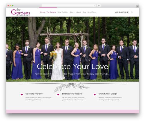 Eden WordPress wedding theme - thegardensofcastlerock.com