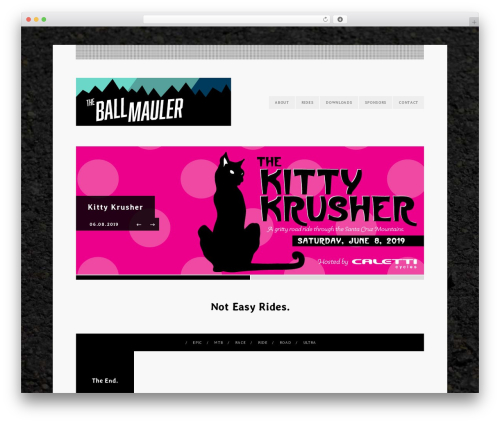 Eventure top WordPress theme - theballmauler.com