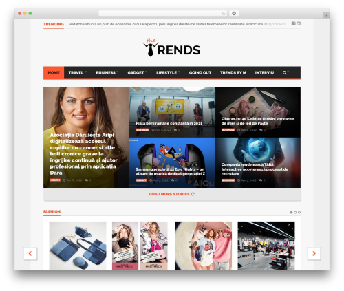 Goliath WordPress theme - thetrends.ro