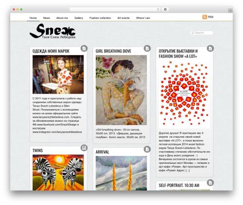 Grido WordPress website template - tanyasnezh.com