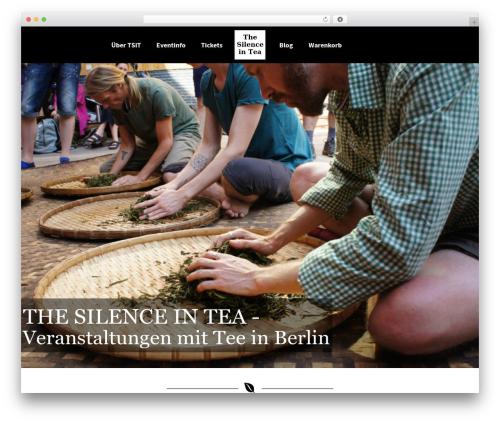 Kriya WordPress theme - thesilenceintea.com