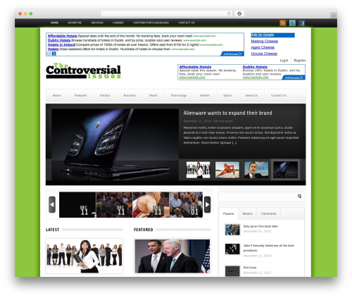 London Live WordPress theme - thecontroversialissues.com