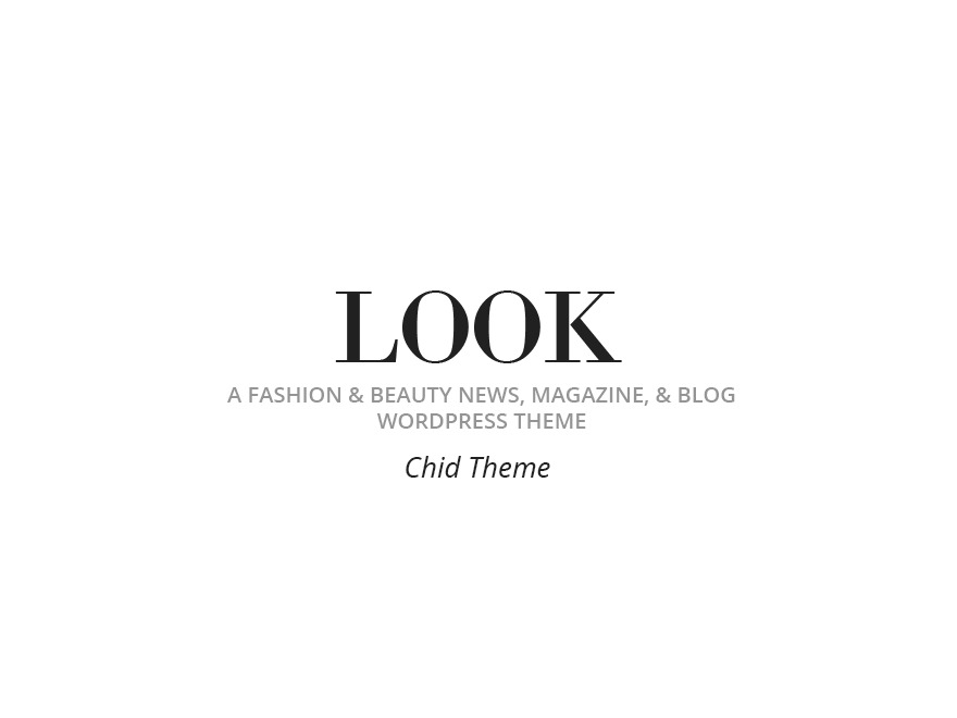 Look Child WordPress website template