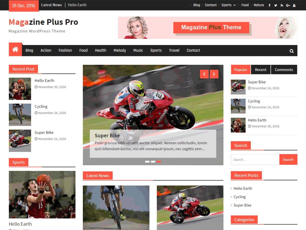 Magazine Plus Pro WordPress news template