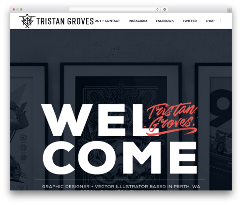 Pitch best portfolio WordPress theme - tristangroves.com