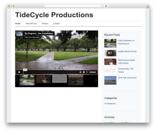 Prologue WordPress theme design - tidecycle.com