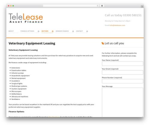 Salient theme WordPress - telelease.com/veterinary-equipment-leasing