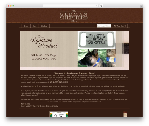 Storefront Elegance theme WordPress - thegermanshepherdstore.net