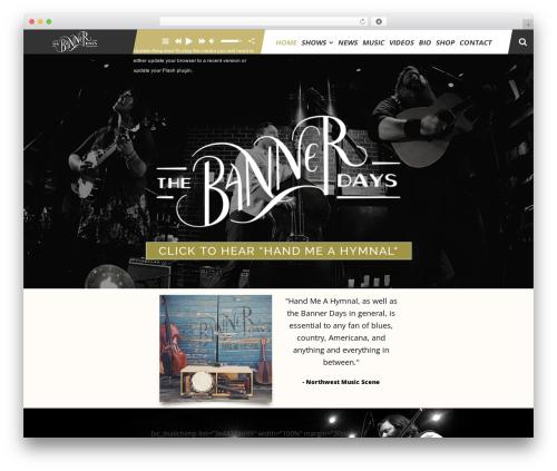 TheArtist WordPress page template - thebannerdays.com