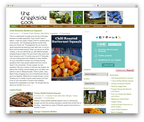 Theme WordPress Eris Child - thecreeksidecook.com