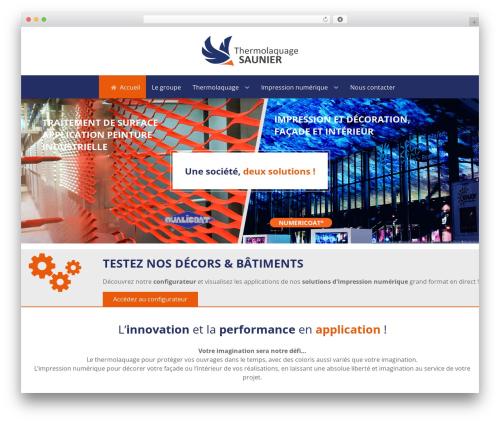 Theme WordPress Hydrogen - thr-saunier.fr