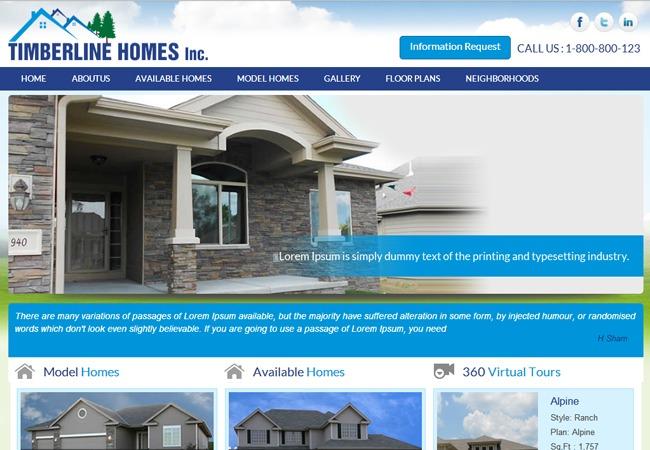 Timberline Homes template WordPress