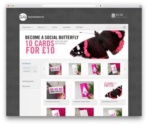Viroshop business WordPress theme - thegaycardcompany.com