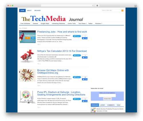 Free WordPress Search Engine Related Posts plugin - thetechmedia.com