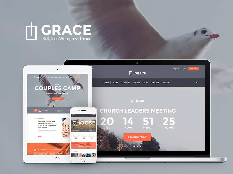 WordPress theme Grace-church