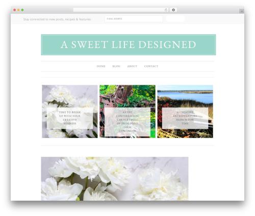 WordPress website template Divine Theme - thebakersconfection.com
