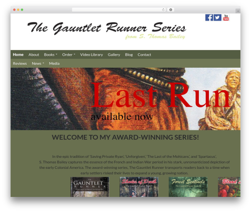 WP template Gauntlett Runner - thegauntletrunner1754.com
