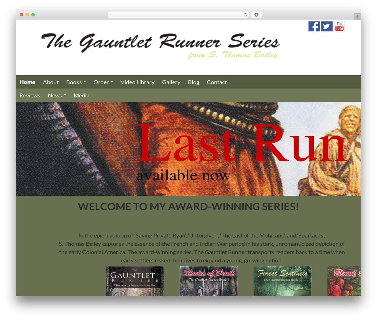WP template Gauntlett Runner - thegauntletrunner1754.com