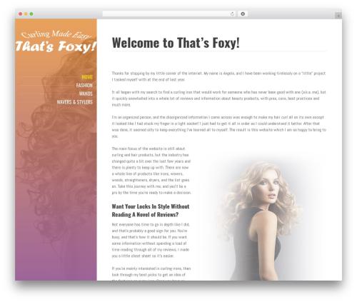 WP theme BeautySpot - thatsfoxy.com