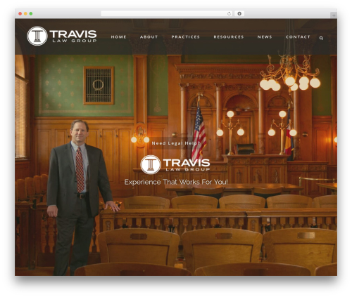 Bridge theme WordPress - travislawgroup.com