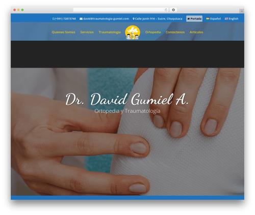 Divi top WordPress theme - traumatologia-gumiel.com